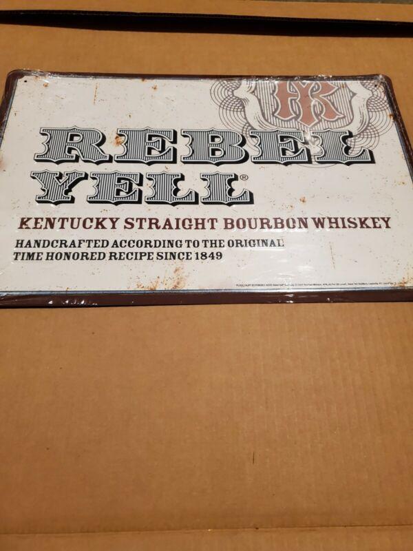 Rebel Yell Bourbon Tin Bar Sign