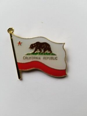 State of California Flag Lapel Hat Pin california State Flag Tie Tac FAST SHIP