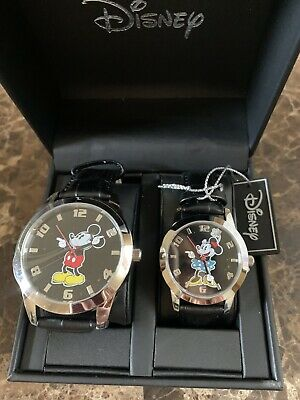 Disney Mickey Mouse  1 Men's 1 Women's SET Watch You and Your Love For Gift