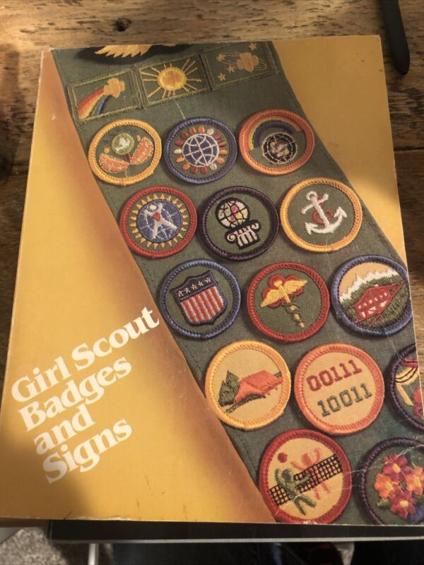 Girl Scout Badges And Signs Book, First Impression, 1980