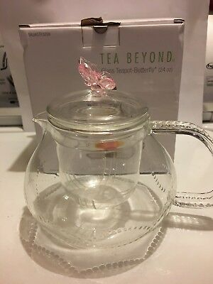 24 Oz Glass Teapot (Glass Teapot With Butterfly  by Tea Beyond 24 oz. )