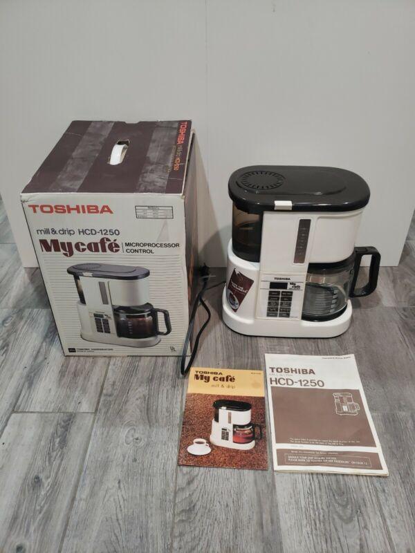 Very Rare Vintage TOSHIBA MY CAFE MILL & DRIP MODEL HCD-1250