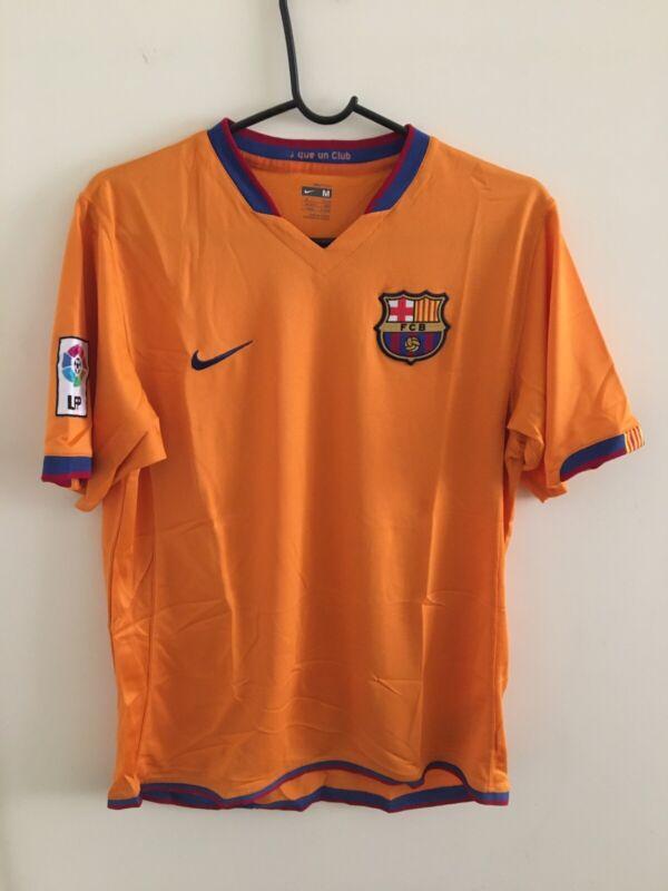 Nike Barcelona 2006/2007 Away Jersey Orange Mens Size M Preowned