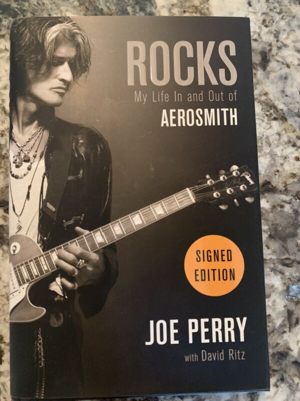 Joe Perry signed autographed book Rocks: My Life In And Out Of Aerosmith