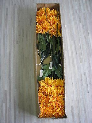 12 x Aster 12tlg Set Seidenblume Kunstblume orange L 67 cm 904355700-ORA F24