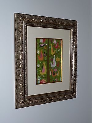 Tim Biskup Original Painting - Birds In Christmas Tree - Beautiful Piece 2006 - $2,700.00