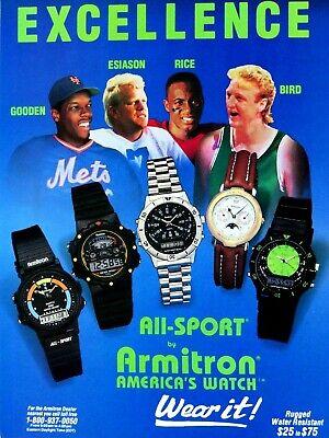 Larry Bird Dwight Gooden Jerry Rice Boomer Esiason All Sport Original Print Ad