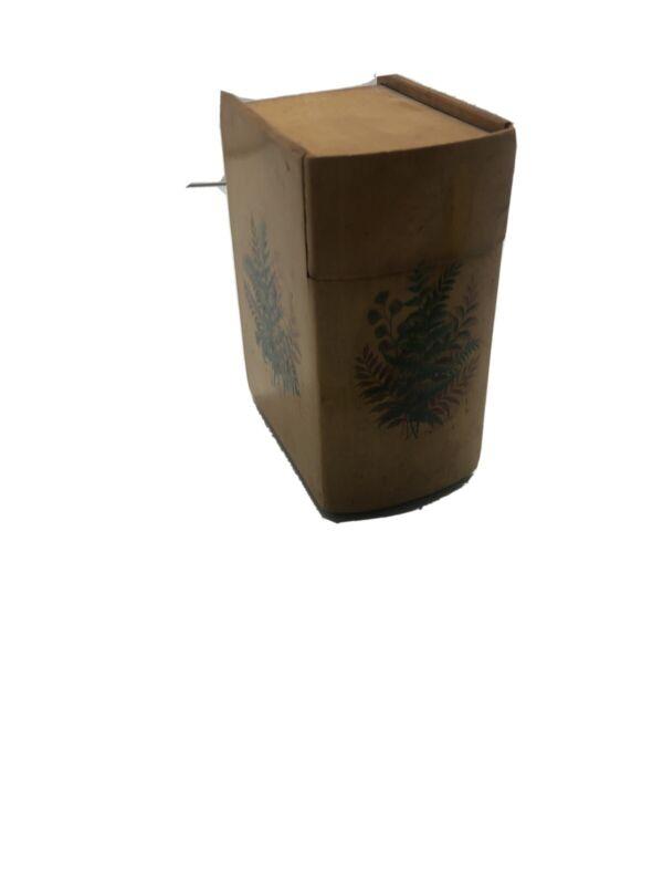 ANTIQUE MAUCHLINE WARE TREEN Book Box Shape Card Holder Ferns 19th