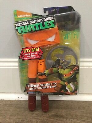TEENAGE MUTANT NINJA TURTLES POWER SOUND FX MIKEY'S COMBAT GEAR - NEW-FREE