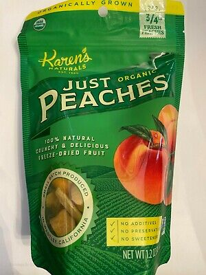 Karens Naturals Just Peaches 100%Natural Freeze-Dried Fruit EXP04/21/21 Freeze Dried Peaches