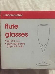 Flute Wine Glasses Oakhurst Blacktown Area Preview