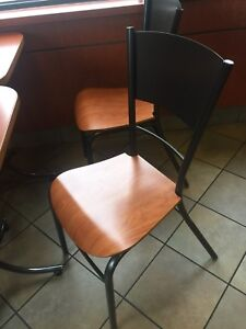 Cafe and restaurant chairs and tables
