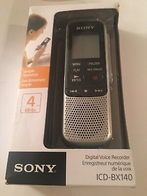 Sony Icd Bx140 4Gb Digital Voice Recorder