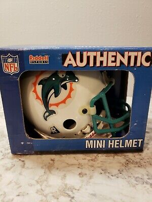 Nfl Mini Helmet - Riddell NFL Miami Dolphins Authentic Throwback Mini-Helmet