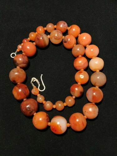 ancient Combodia carnelian beads necklace