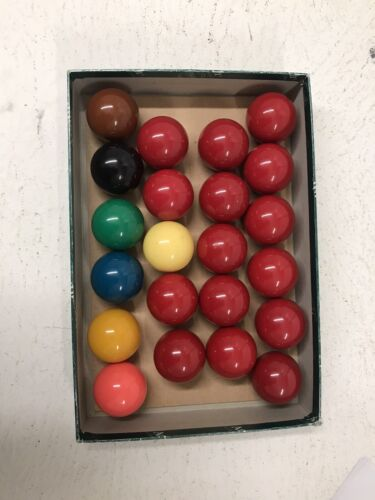 Aramith Snooker Billiard Balls 2 1/16 Inch In Box