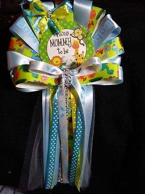 Baby shower jungle safari Mommy To Be  pin on corsage