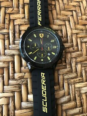 Ferrari Men's Watch with yellow Black Silicone...