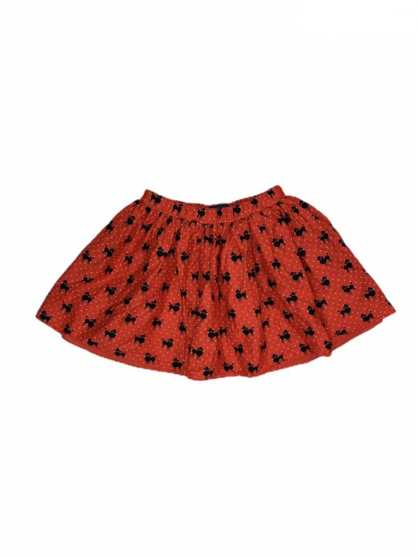 The Children's Place Youth Girls Size L 10-12) Red Polka Dots Poodle Print Skirt