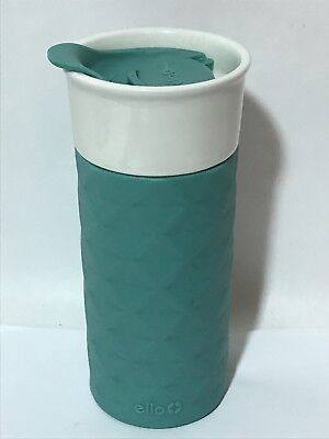 Ello Ceramic Travel Mug Blue with Lid 16 oz Coffee Tea