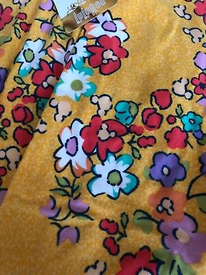 NEW Beautiful Lularoe Disney Mickie Mouse Yellow Floral One Size OS Leggings