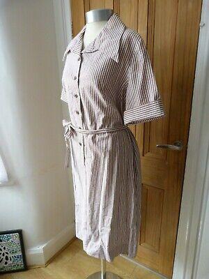 True Vintage 1960's horrockses striped cotton dress, Selfridges, size 20, Volup