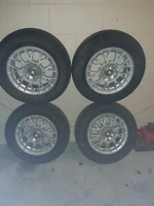 Alloy Rims with 13 inch tyres..