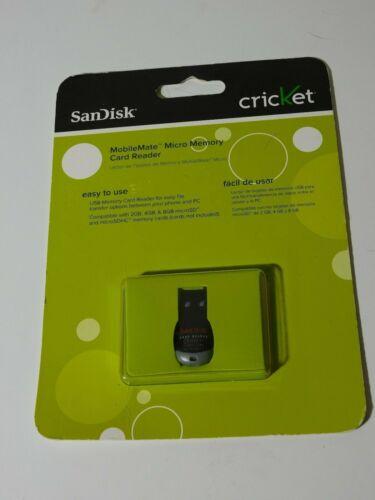 NEW SANDISK CRICKET MOBILE MATE MICRO MEMORY CARD READER AE 101001J