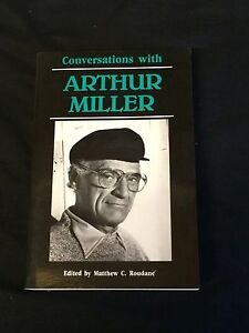 Arthur-Miller-Conversations-With-Rare-Signed-1st-Edition-Autograph-Trade-Book
