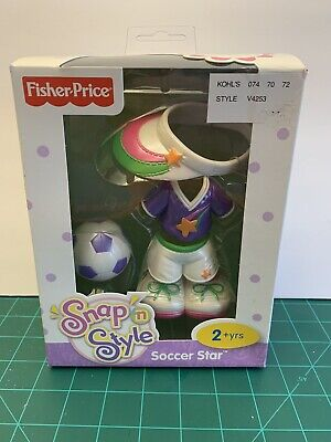 New Fisher Price Snap N Style Soccer Star