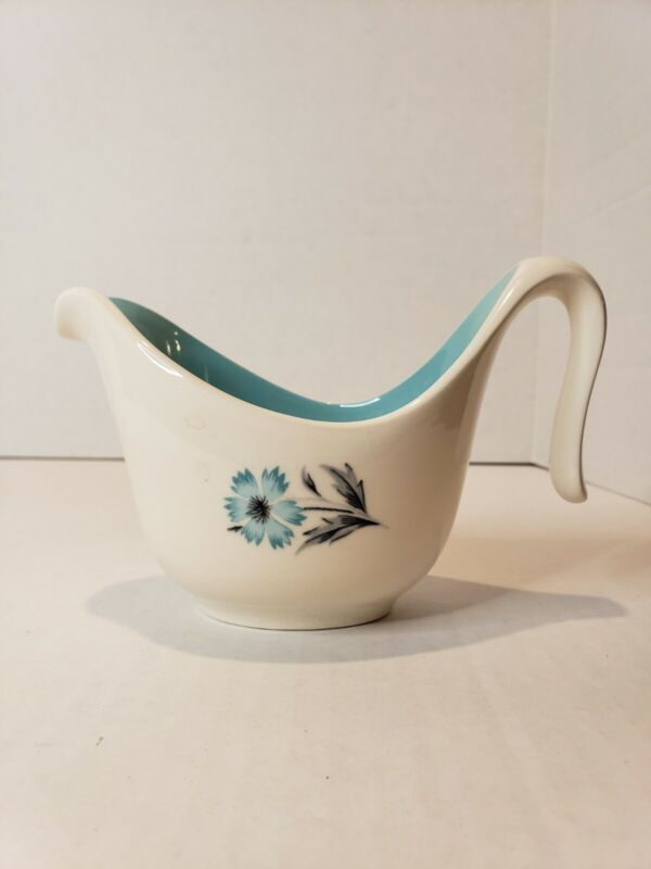 Vintage Taylor Smith & Taylor Boutonniere Ever Yours Creamer Blue Flower LOVELY