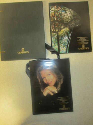 BARBRA STREISAND  COLLECTION OF DECORATIVE  FINE ARTS CATALOG  CHRISTIE