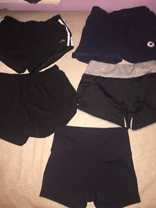 5 pairs of Women's XS athletic shorts $10 each or $40 for all