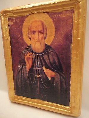 Icon Saint Gerasimos Gerasimus Agios Gerasimos Greek Orthodox Icon Ooak