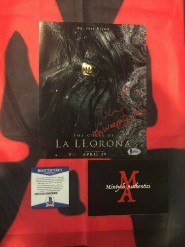 MARISOL RAMIREZ THE CURSE OF LA LLORONA SIGNED 8x10 PHOTO! BECKETT COA! HORROR!