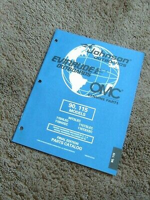 1998 Johnson Evinrude Outboard Parts Catalog Manual 90 115 HP 115HLEC 115TSLEC