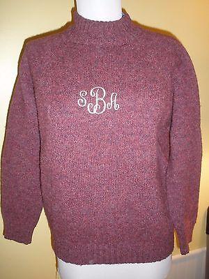 vintage Isles Knit Shetland Wool Sweater purple fits women medium