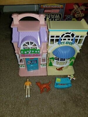 Sweet Streets Loving Family Fisher Price Pet Shop & Beaury salon  w/Accessories