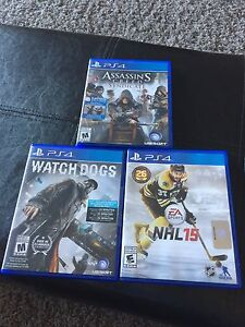 Assassins Creed Syndicate, NHL and Watch Dogs PS4