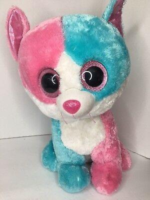 "18"" 2014 Large Ty Beanie Babies Boos Fiona The Cat Stuffed Pink Blue Bean Plush](Ty Beanie Boos Large)"
