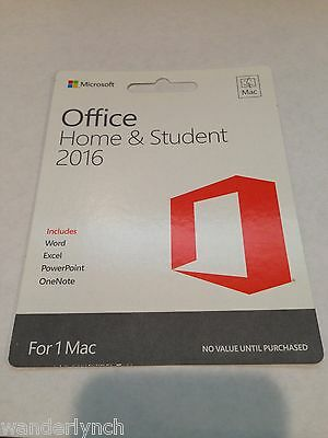 Microsoft Office 2016 Home and Student For 1 Mac English