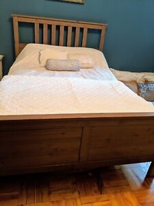 Ikea Hemnes Double Bed Frame (without mattress) / Free Delivery