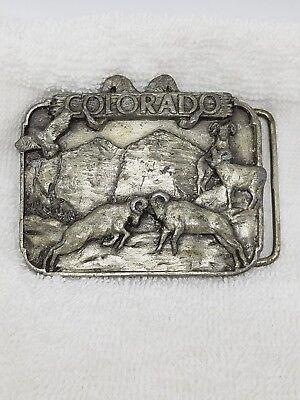 3.14.9) Vintage 1982 Colorado Belt Buckle - Siskiyou Buckle Co. H-10 William Gre