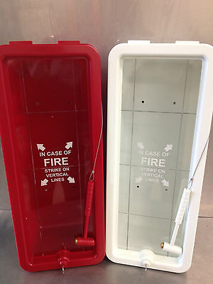 Fire Tech 10 Lb Fire Extinguisher Cabinet Indooroutdoor - White - Free Shipping