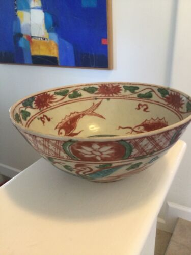 Chinese Swatow ware - 16th Century Antique Bowl with provenance