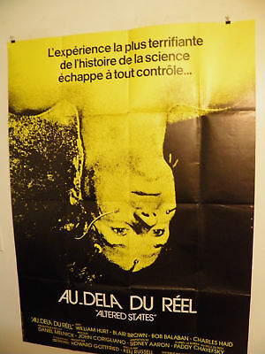 ALTERED STATES  Large Poster 47x63 French 1980  Ken Russell William Hurt