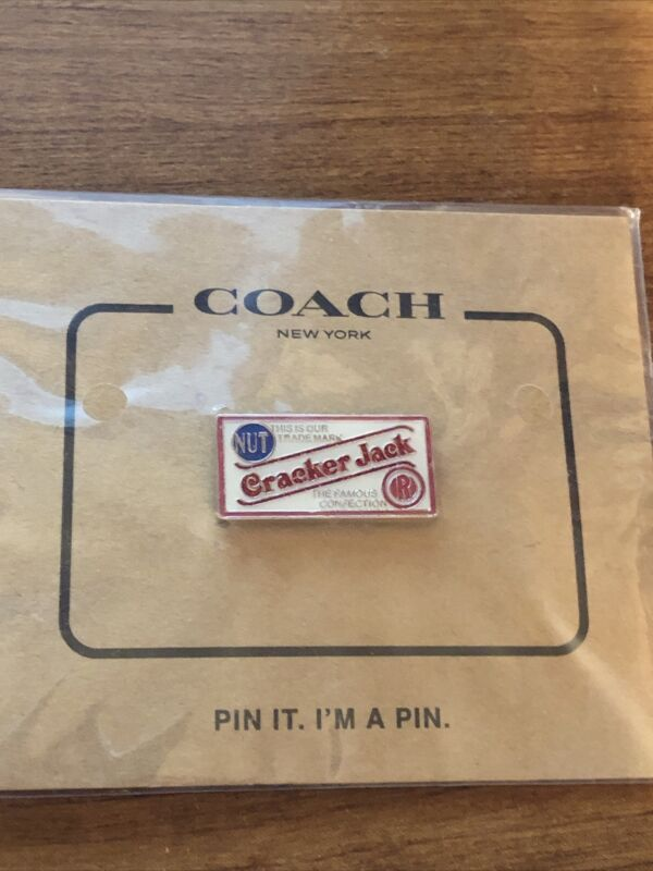 NWT Coach Cracker Jack Pin Limited Edition Nostalgia Button Authentic