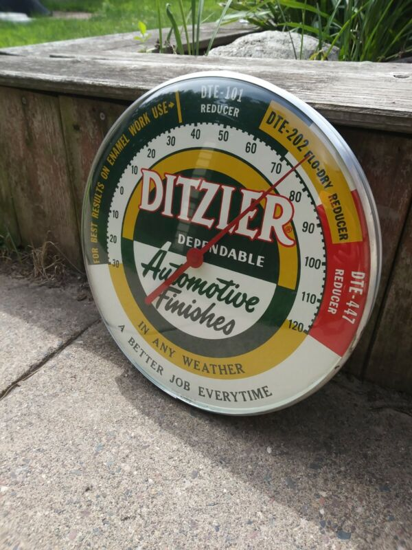 Working Vintage Ditzler Paints Thermometer - Outstanding Condition