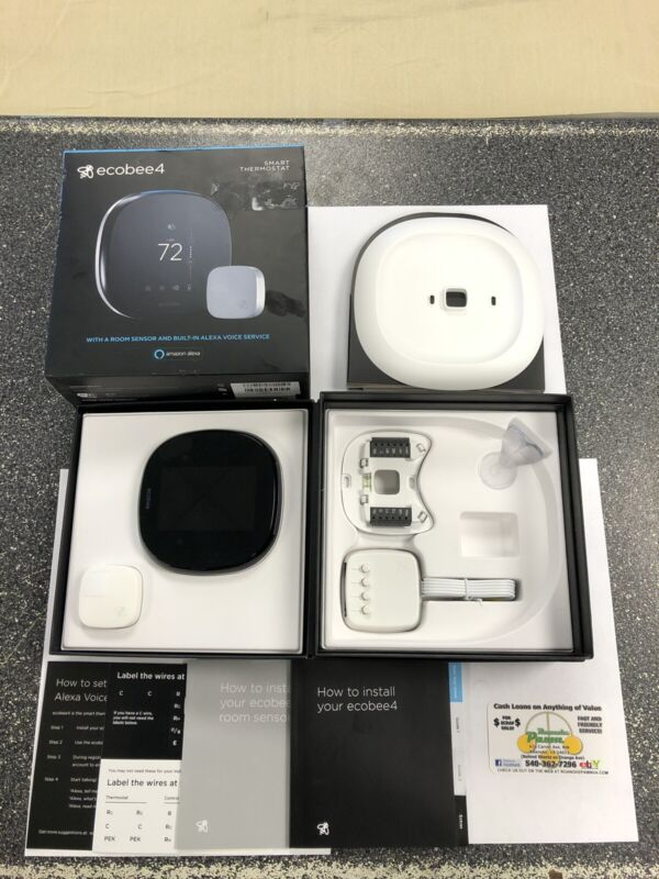 """ECOBEE """"SMART"""" Thermostat w/ Room Sensor and Built-In ALEXA Voice Service - USED"""