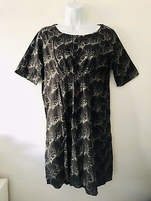 ORLA KIELY New Tree Print Charcoal Tunic Dress Women's Size M - Rare!